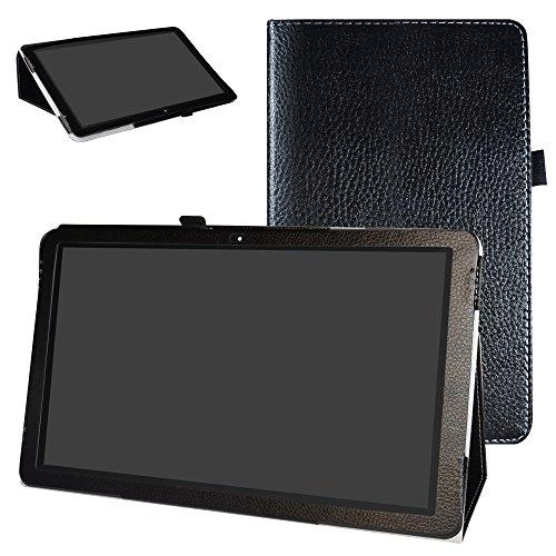 """Diseño específico para 13.3"""" TrekStor SurfTab Theater 13.3 Android Tablet PC Hecha de PU Piel de Alta Calidad con ranuras y un compartimento pequeño que le permiten guardar tarjetas y billetes Tiene un broche magnético en la tapa frontal que mantiene..."""