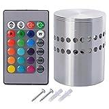 Sunix® 3W RGB LED Deckenleuchte, LED Deckenlampe Dimmbare bunte Spirale Effektlicht Wandleuchte mit Fernbedienung