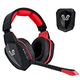 winkona 2,4 GHz Wireless Gaming Casque – Compatible PS4 PS3 Xbox One Xbox 360 PC Ordinateur – Clair Over Ear Casque Microphone – amovible – Rechargeable akkuoptische