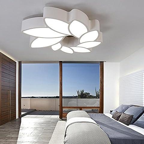 Trois couleurs Ajustable LED En forme de fleur Plafonnier Moderne