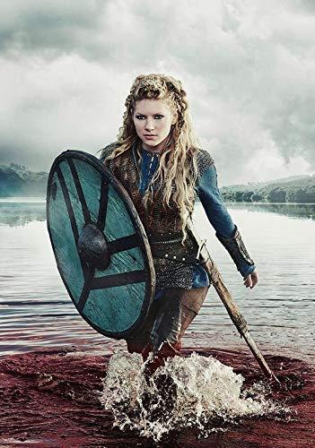 Desconocido Vikingos Serie de TV Póster Foto Series Art Katheryn Winnick Lagertha 001 (A5-A4-A3) - A4