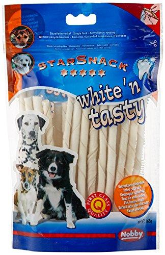 nobby-stick-a-macher-pour-chien-blanc-125-cm-6-7-mm-30-pieces-lot-de-2