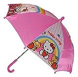 Unbekannt Regenschirm -  Hello Kitty  - Kinderschirm 56 cm lang - für Kinder Stockschirm Schirm - Mädchen Schirm pink Katze rosa Kinderregenschirm - Mädchenschirm Kat..