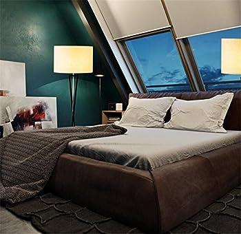Atmko®black Reading Floor Lamp Fabric Lampshade Wrought-iron Lamp Base Living Room Bedroom Bedside Modern Lighting Decor 4