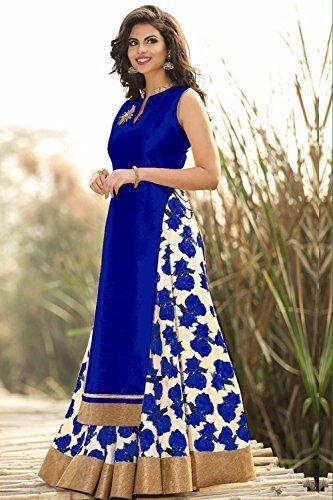 Spangel Fashion Girls\' Bhagal Puri+Benglory Anarkali Lehenga Choli (Spangel Fashion_Lehenga232_Multi-Coloured_Free Size)