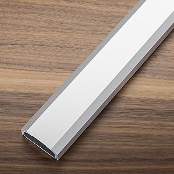 Einfaches Klicksystem 115x5cm rund oder eckig Schwarz oder Grau//Silber Wei/ß Kabelkanal aus Aluminium Silber//Grau eckig