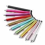 Gespout 10 Stücke Handy-Stift Metall Stylus Touch-Stift Regenbogen Farben- kapazitiver Schreibkopf/Schreibkopf Feder für Touch Screen