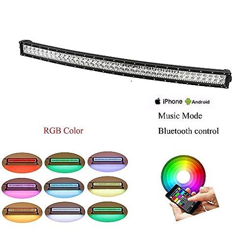 colorbarz® incurvé 81,3cm 180W RVB Halo LED Bar avec application Câblage et contrôle Bluetooth pour Rock Kit LED Off Road lumineux Bluetooth pour camion voiture conduite LED imperméable