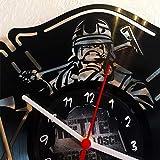 Roter Hahn 112 Hochwertige Feuerwehr Vynil Wanduhr Uhr aus Echter Schallplatte / 30cm / Geräucharm Test