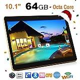 amhomely '10,1Pouces HD IPS Touch Tablette PC Téléphone Android Phablet Pad 6.0Dual SIM MTK65921.5GHz Octa 8Core 4Go RAM + ROM 64Go WiFi 3G Bluetooth Mic OTG GPS Google Store 8000mAh noir