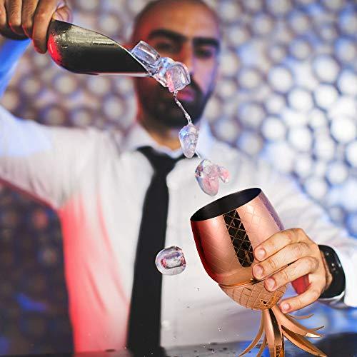 Pi/ña C/óctel Taza 500/ML C/óctel vasos 304/Acero Inoxidable Rose Oro Gafas de lujo regalo para General partido Decoraci/ón o fiesta de cumplea/ños de yxaomite