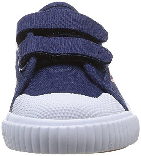 Feiyue Fe Lo Gold Medal Ez, Baskets mode mixte enfant Bleu (Navy/Red)