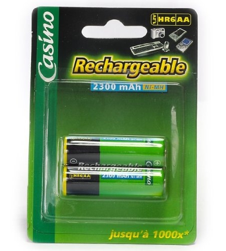 Casino - Uniross - Paquet de 2 accus HR6/AA - 1,2V - 2300 mAh - Ni-MH