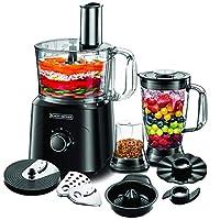 Black & Decker 750W 34 Functions 5 in 1 Food Processor with Chopper, Blender, Grinder, Citrus Juicer & Dough Maker, Black - FX775-B5