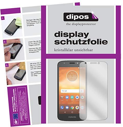 dipos I 6X Schutzfolie klar passend für Motorola Moto E5 Play Go Folie Bildschirmschutzfolie