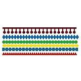 Lazzboy Fustelle Natale Scrapbooking Metallo Stencil Paper Card Craft per Sizzix Big Shot/Altre Macchine(F, Pizzo Etnico)