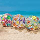 Skky Bell Kids Colorfull Print 20 Inch Inflatable Beach Ball ( Colors And Design May Vary )