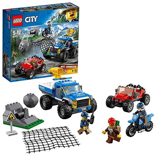 LEGO City 60172 - Bergpolizei Verfolgungsjagd auf Schotterpisten, - Streifenwagen 60239 Lego City