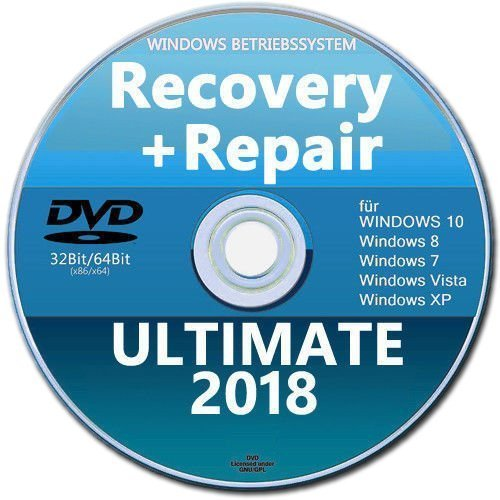 Recovery & Repair CD DVD für Windows 10+8+Win7 +XP 32+64 bit✔Acer ASUS Lenovo MEGA Problemlöser All in One (Cd Xp Recovery)