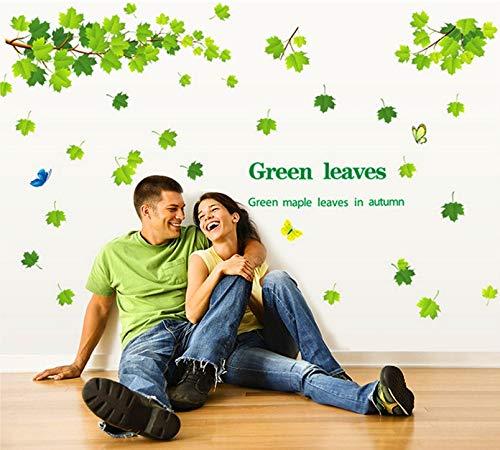 er Herbst 3D wandaufkleber wohnkultur Baum Aufkleber abnehmbare Hintergrund grün 60 * 90 cm ()
