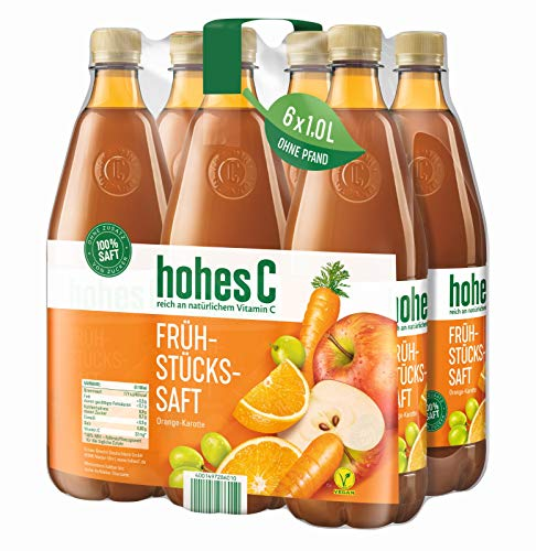 Hohes C Frühstückssaft - 100% Saft, 6er Pack (6 x 1 l) - Saft Orange-karotte