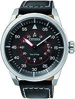 ساعة ايكو درايف من الجلد بعرض انالوج للرجال من سيتيزن - AW1360-04E
