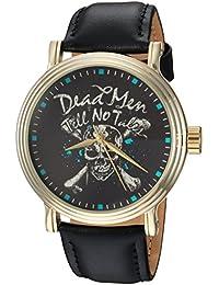 Disney Men's 'Pirates' Quartz Metal Casual Watch, Color:Black (Model: WDS000373)