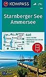 KOMPASS Wanderkarte Starnberger See, Ammersee: 4in1 Wanderkarte 1:50000 mit Aktiv Guide und Detailkarten inklusive Karte zur offline Verwendung in der ... (KOMPASS-Wanderkarten, Band 180) -
