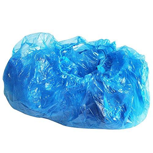 TOOGOO(R) 100 Pieces Housse de chaussure anti-poussiere jetable pour proteger le tapis et planchers - Bleu