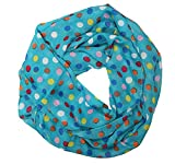 MANUMAR Loop-Schal für Damen | Hals-Tuch in Mehrfarbig mit Punkte Motiv als perfektes Herbst Winter Accessoire | Schlauchschal | Damen-Schal | Rundschal | Geschenkidee für Frauen und Mädchen