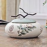 PLL American Style Home Kreativer Aschenbecher Mit Abdeckung Keramik Aschenbecher Persönlichkeit Multifunktionsaschenbecher