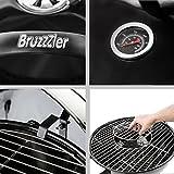 Bruzzzler Kugelgrill mit integriertem Deckelthermometer und Easy-to-Clean-System, 47 cm -