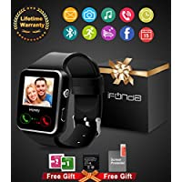 Smartwatch Android Uomo, Bluetooth Smart Watch Impermeabile Touch Screen con Camera SIM Card e TF Card Slot Pedometro Orologio Intelligente Wrist Watch Braccialetto per Uomo Donna Bambini per Android Huawei Samsung iPhone Smartphone (Nero)