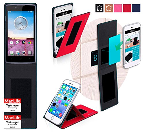 reboon Oppo Neo 3 Hülle Tasche Cover Case Bumper | Rot | Testsieger