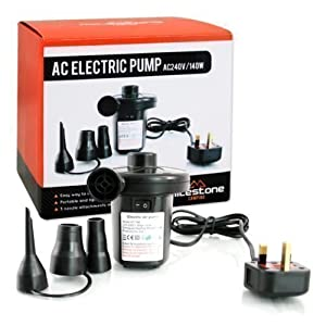 AC Electric 240v/140w Air Pump Inflator/Deflator Air Bed Mattress Home Camping