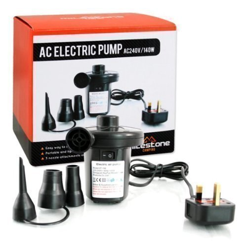 510Ys LrhXL. SS500  - AC Electric 240v/140w Air Pump Inflator/Deflator Air Bed Mattress Home Camping