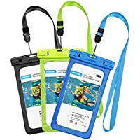 [3 Pezzi] Custodia Impermeabile Mpow IPX8 Custodia Impermeabile, Borsa Impermeabile ,Sacchetto Impermeabile Cellulare Dry Bag, Sacchetto di Smartphone Universale per iPhone 7/7 Plus, Galaxy /Google Pixel/LG/HTC