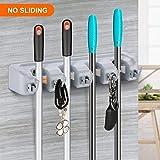 #2: LWVAX® Multi Functional Broom Holder/Wall Mounted Hanger Storage/Broom Holder Tool