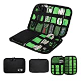 RAISSER® Waterproof Double Layer Travel Wire Storage Bag Electronic Accessories Tool Pouch Organizer Hard Drive Pen Data Cable Bags