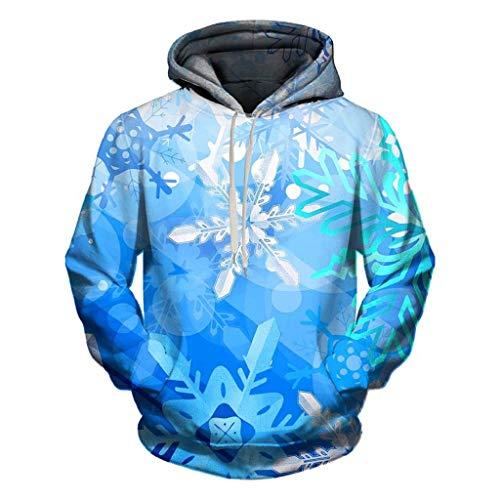 Soupliebe Frauen Männer Unisex Paare 3D Weihnachten Geweih Print Hoodies Bluse Tops Shirt Kapuzen Sweatjacke Kapuzenpullover Pullover Sweatshirt