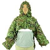 camouflage BIONIC Recon Ghillie giacca Tactical Sniper mantello con cappuccio e parte superiore del braccio Covers Woodland, Woodland