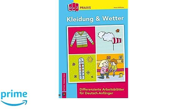 Kleidung & Wetter - Differenzierte Arbeitsblätter für Deutsch ...