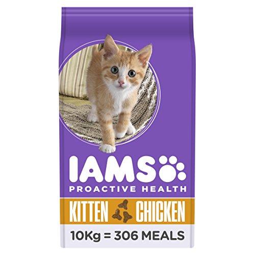 Iams Kitten Trockenfutter (mit viel Huhn, für junge Kätzchen bis 12 Monate, enthält viel hochwertiges tierisches Protein), 10 kg Beutel (Junge Kätzchen)