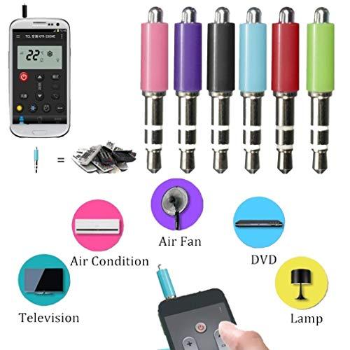 Yongse Tragbare 3.5mm IOS Handy Zaza IR Fernbedienung für Klimaanlage TV DVD Projektor