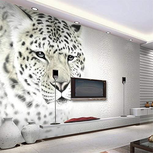 Benutzerdefinierte foto mural tapete 3d mode leopard korn leopard tier wandmalerei wohnzimmer sofa tv wand dekoration tapete, 300 * 210 cm - Ozean-blau-korn
