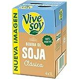 Vivesoy Bebida De Soja Sabor Natural - Pack de 4 x 1 l - Total: 4000 ml
