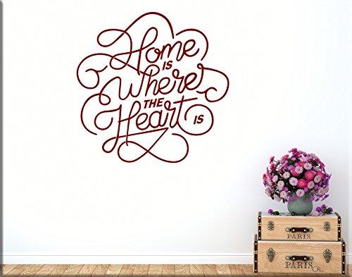 Adesivi murali frase casa home decorazioni da parete wall sticker arredamento moderno