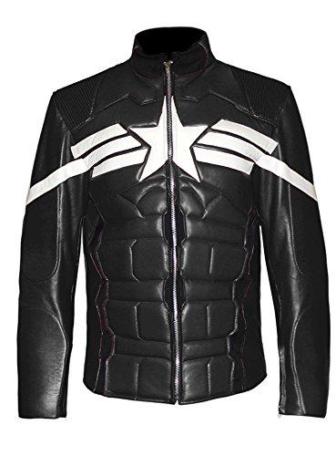 Chris Evans Captain America Winter Soldier Genuine Leather Biker Bomber Jacket