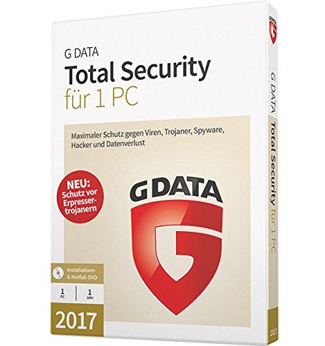 G DATA Antivirus 2017 für 1 PC - Antivirus-Pro-Version mit ausgezeichnetem Virenscanner, automatischen Backups, einer starken Firewall und einer sicheren Abwehr gegen Trojaner und Spyware