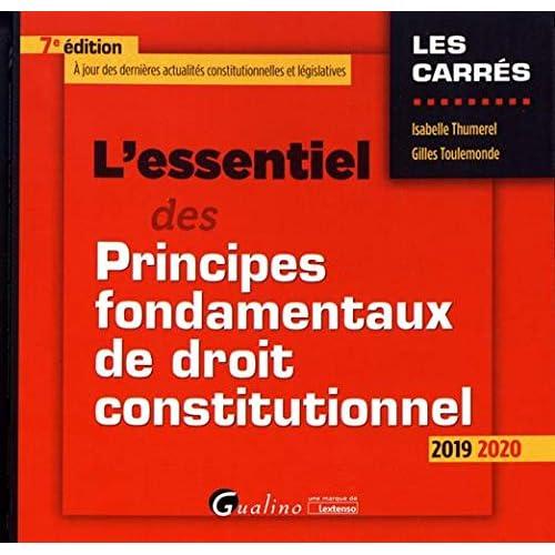 L'essentiel des principes fondamentaux de droit constitutionnel